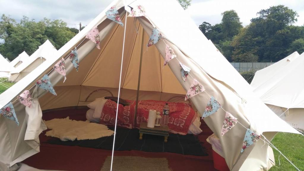 Bell Tent at a music festival in ireland.