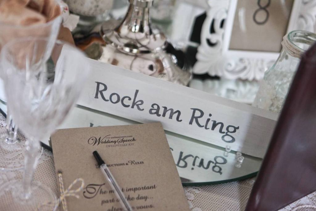 Wedding table named after a music festival and a list of best alternative love songs