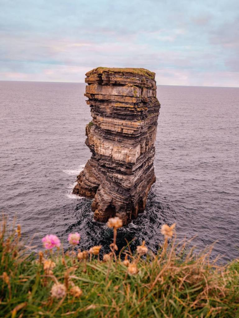 Dun Briste sea stack at Downpatrick Head Mayo Ireland.