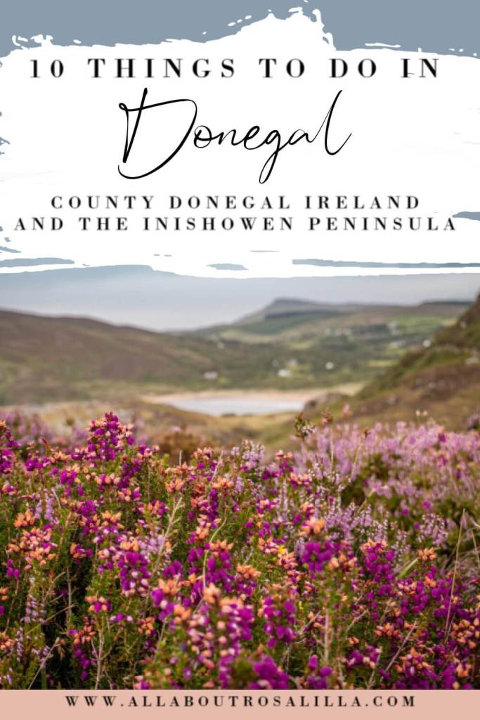 Image of Fort Dunree in Donegal with text overlay staycation Ireland ideas 10 things to do in Donegal and the Inishowen peninsula