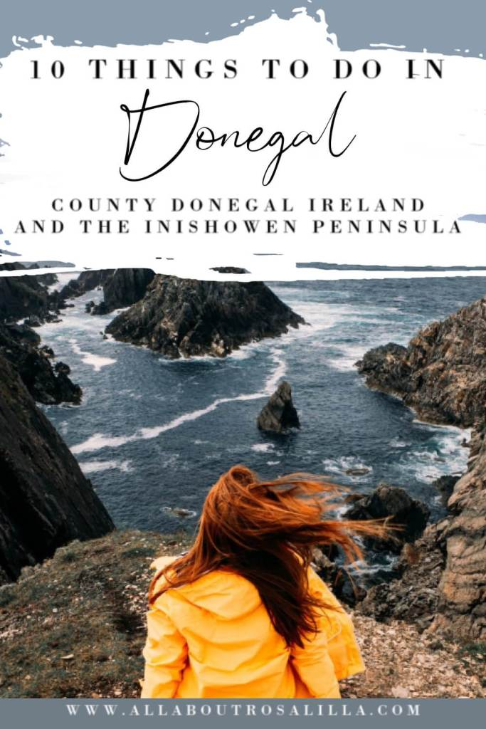 Image of Malin Head in Donegal with text overlay staycation Ireland ideas 10 things to do in Donegal and the Inishowen peninsula