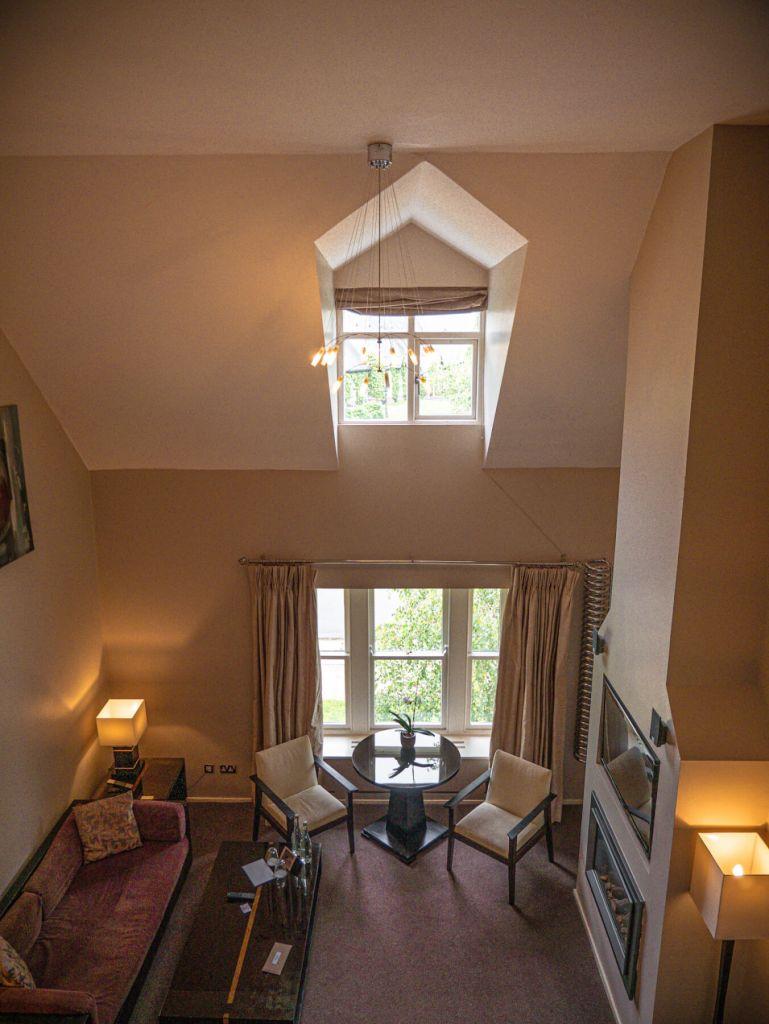 Mezzanine suite at Brooklodge Hotel Ireland