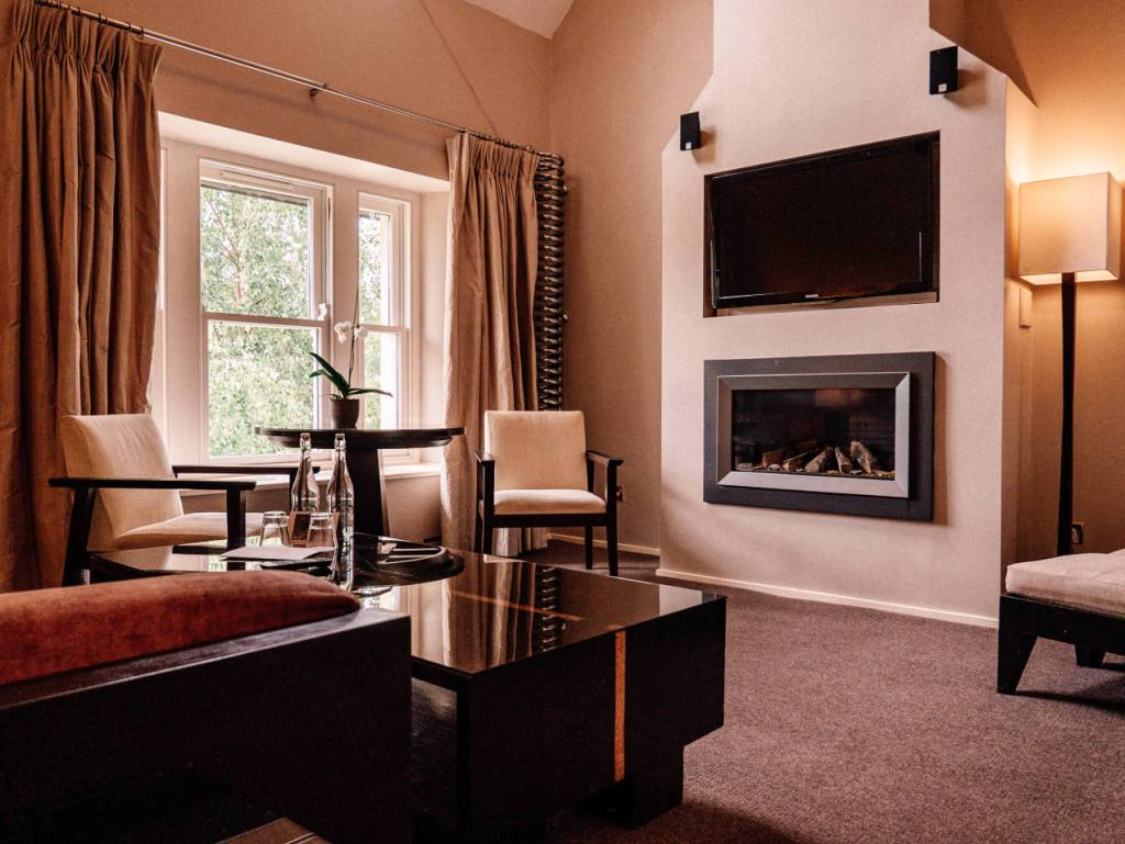 Interior of a hotel room at Brooklodge Hotel Wicklow Ireland