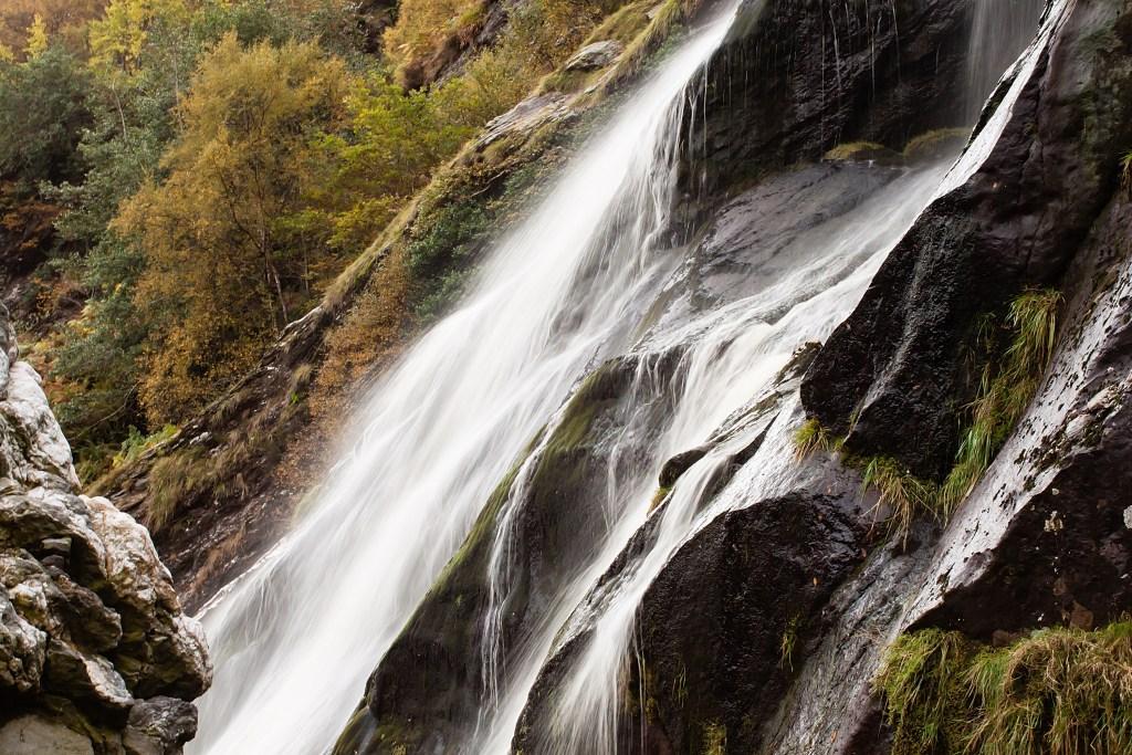 Powerscourt waterfall in Wicklow Ireland