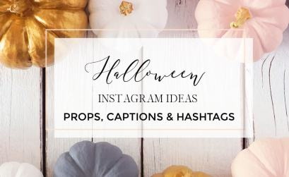 Pumpkins with text overlay Halloween Instagram Ideas, props, captions and hashtags
