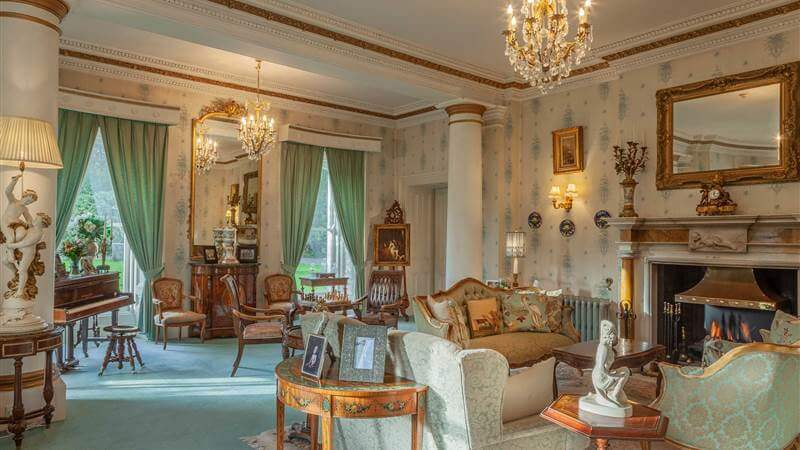 Drawing room of Ballyseede Castle in Tralee Ireland