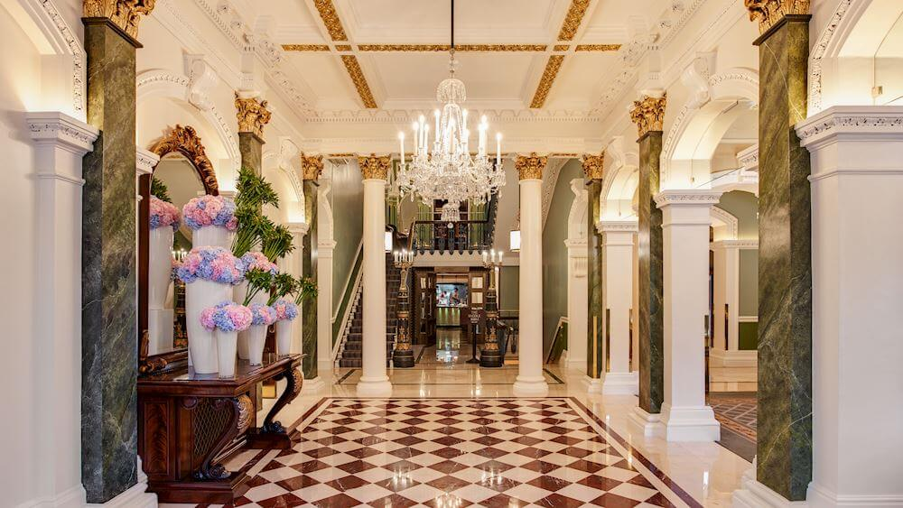 Lobby of The Shelbourne Hotel in Dublin Ireland