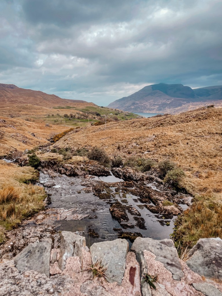 Bunowen river in Connemara Ireland