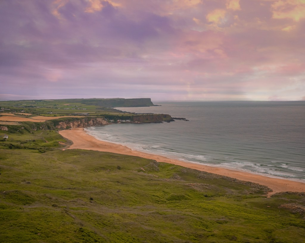 Beach along the Antrim coast in Northern Ireland where Game of Thrones was filmed