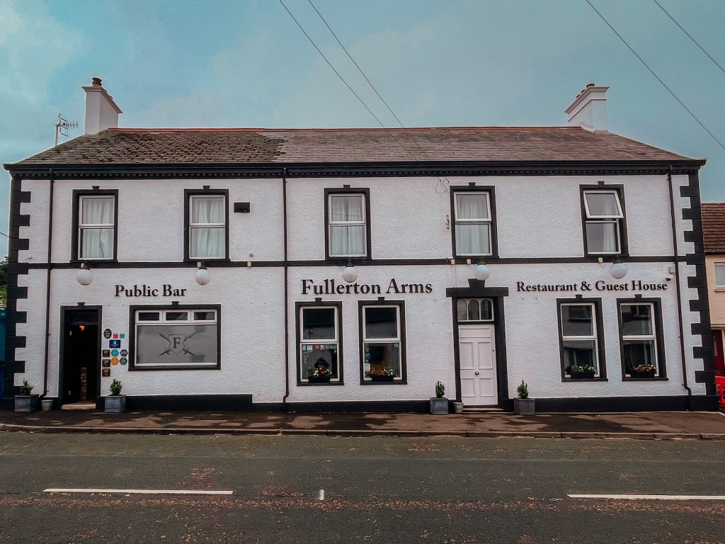 Exterior of Fullerton Arms in Ballintoy County Antrim Northern Ireland
