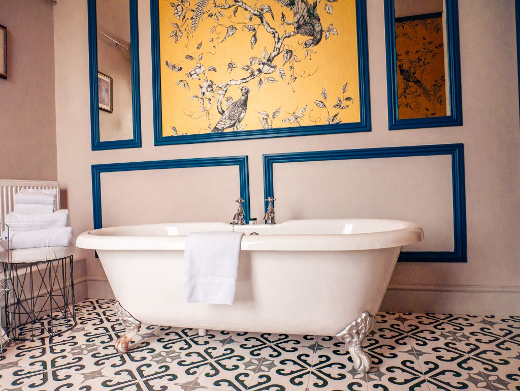 Claw foot bath in a manor room suite at the Lyrath Estate and Spa in Kilkenny the perfect hotel to stay in for your weekend in Kilkenny