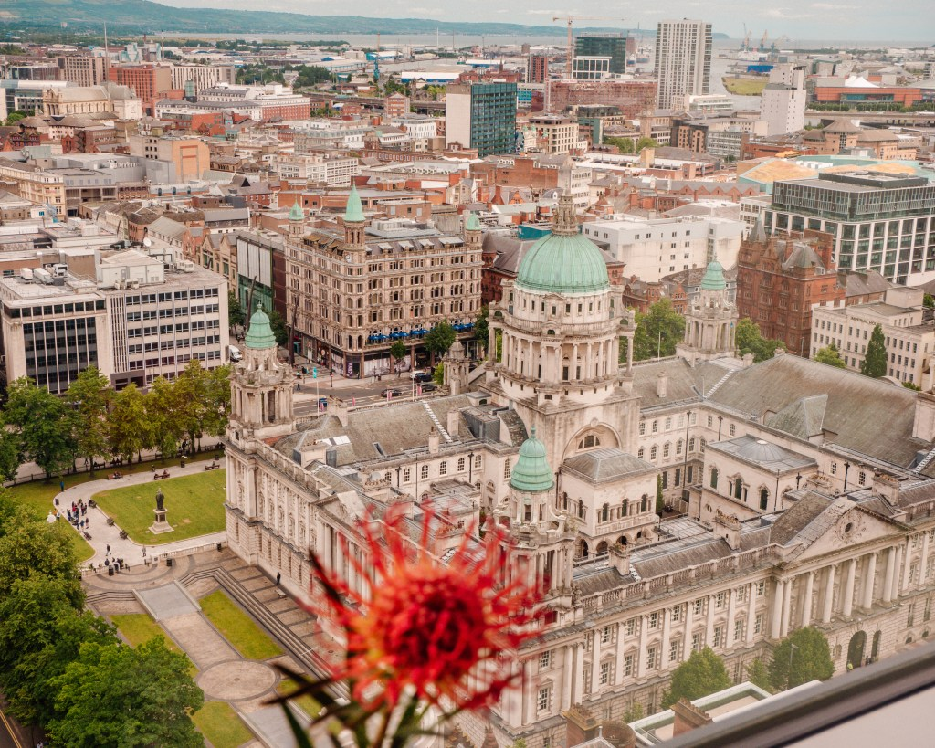 Aerial view of Belfast city