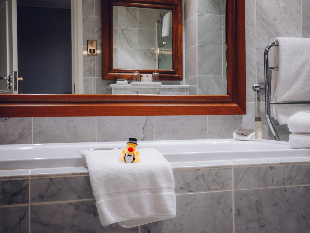 Bathroom of a suite in the Culloden Estate and spa