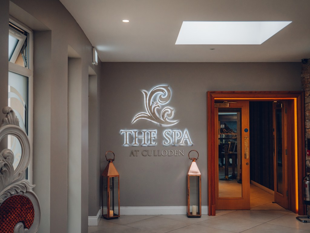 Entrance to the spa in the Culloden Estate