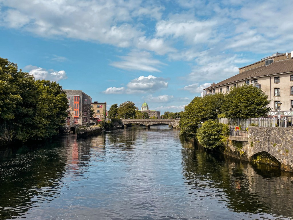 The River Corrib in Galway city in Ireland