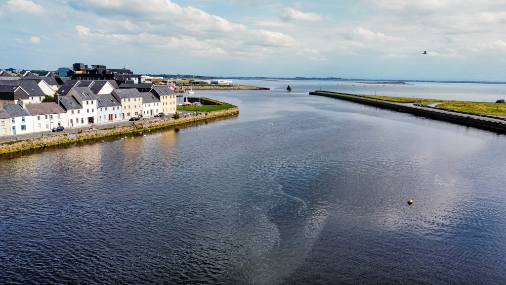 Aerial view of Galway city the perfect weekend break in Galway city Ireland