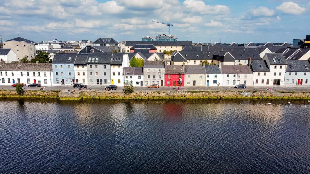 The long walk in Galway Ireland