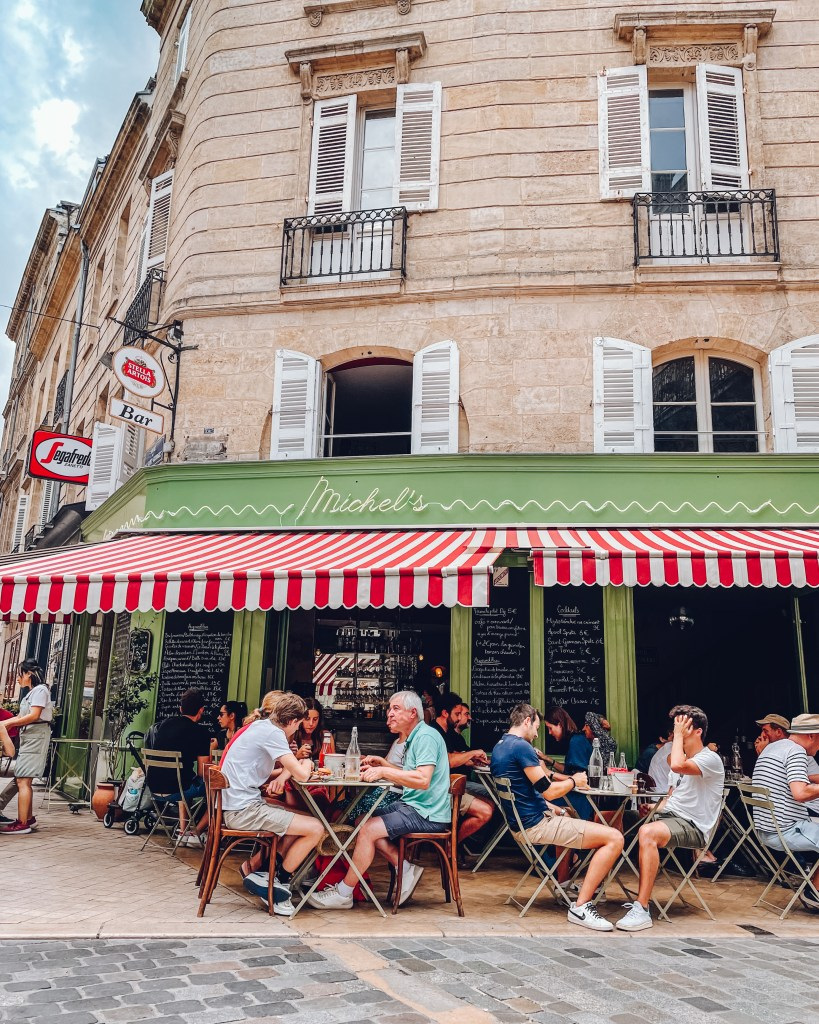 Cute French Restaurant in Bordeaux France that is perfect for Instagram