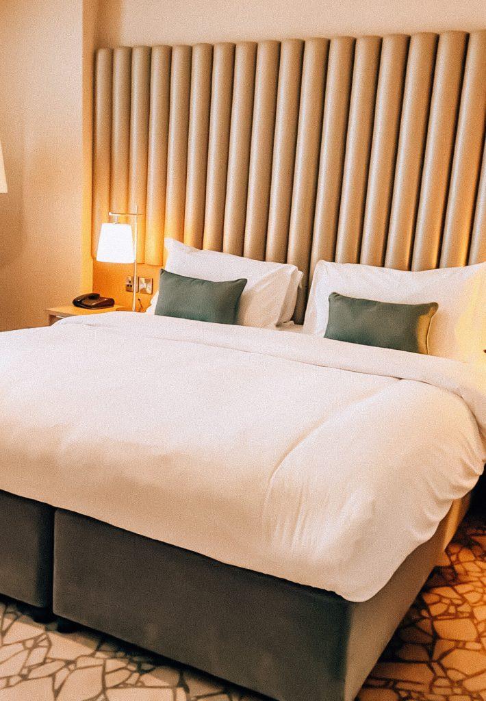 Double bedroom in the Harbour Hotel in Galway the perfect weekend break in Galway