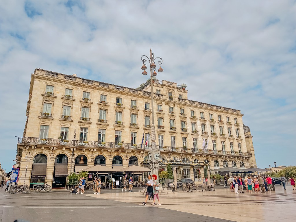The exterior of the Intercontinental Hotel Bordeaux France