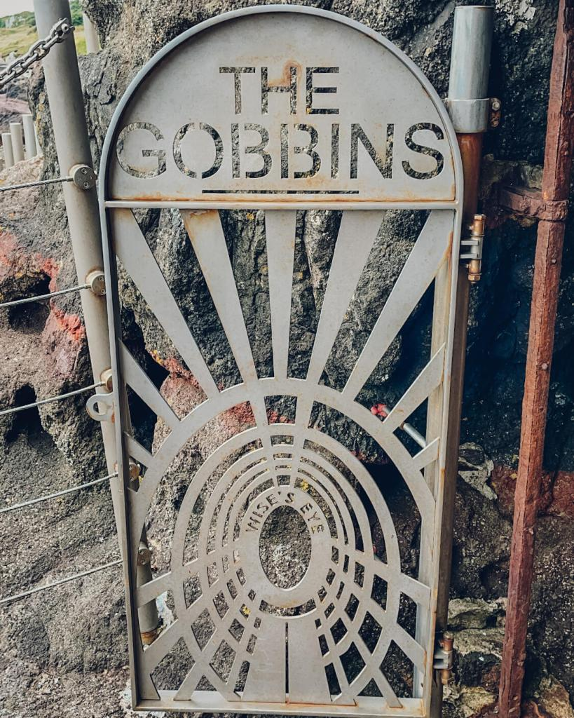 The Gobbins cliff path in county Antrim