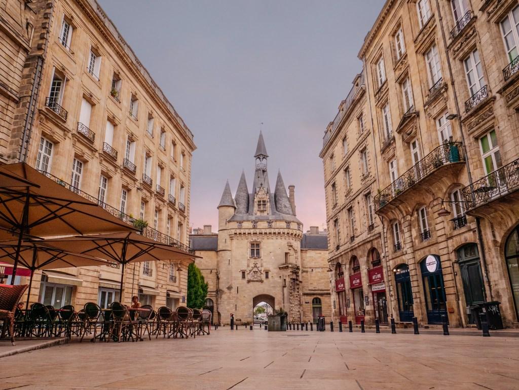 Porte Cailhau one of the original gates to Bordeaux city