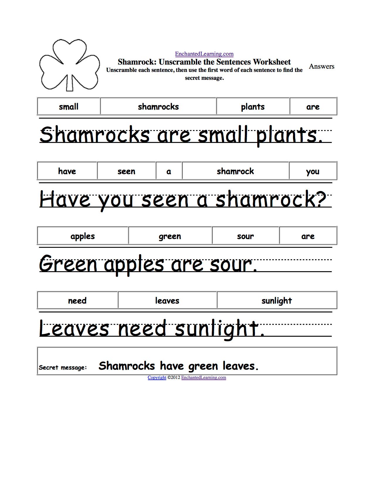 Writing Plants At Enchantedlearning