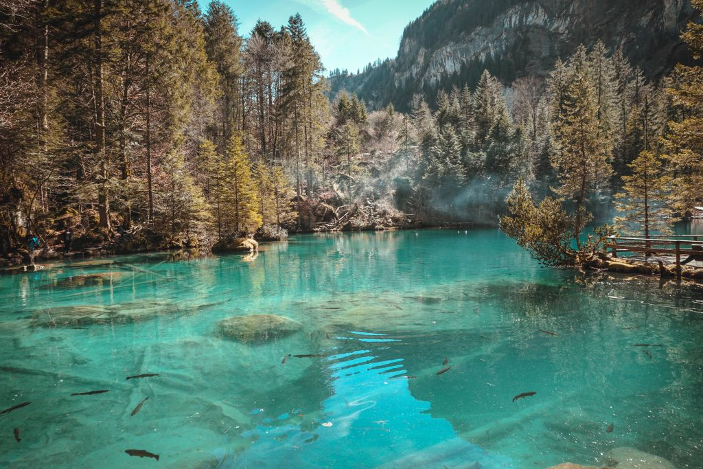 Best lake in Switzerland - Lake Blausee