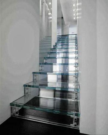 escadas em vidro