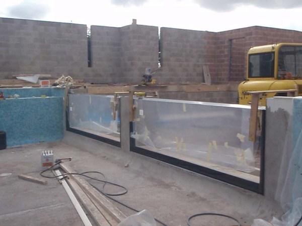 piscina de vidro