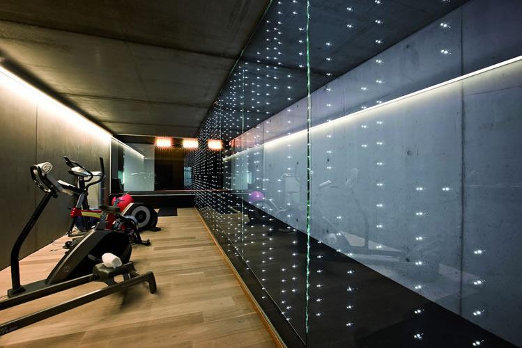 vidro com LED