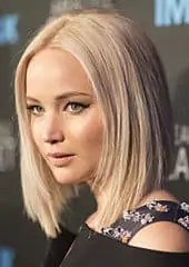 Jennifer Lawrence very light ashy hair