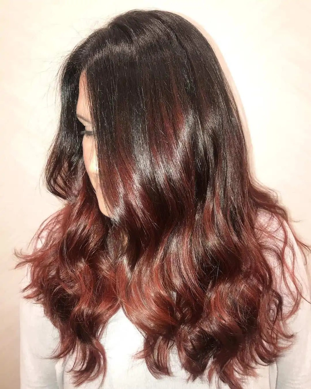 Very Natural Medium Brown Hair With Red Highlights All About The Gloss
