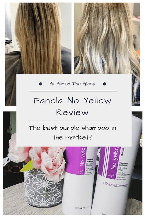 Purple Shampoo Fanola No Yellow Review All About The Gloss