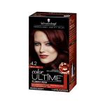 Schwarzkopf Ultime Hair Color Cream, 4.2 Mahogany Red