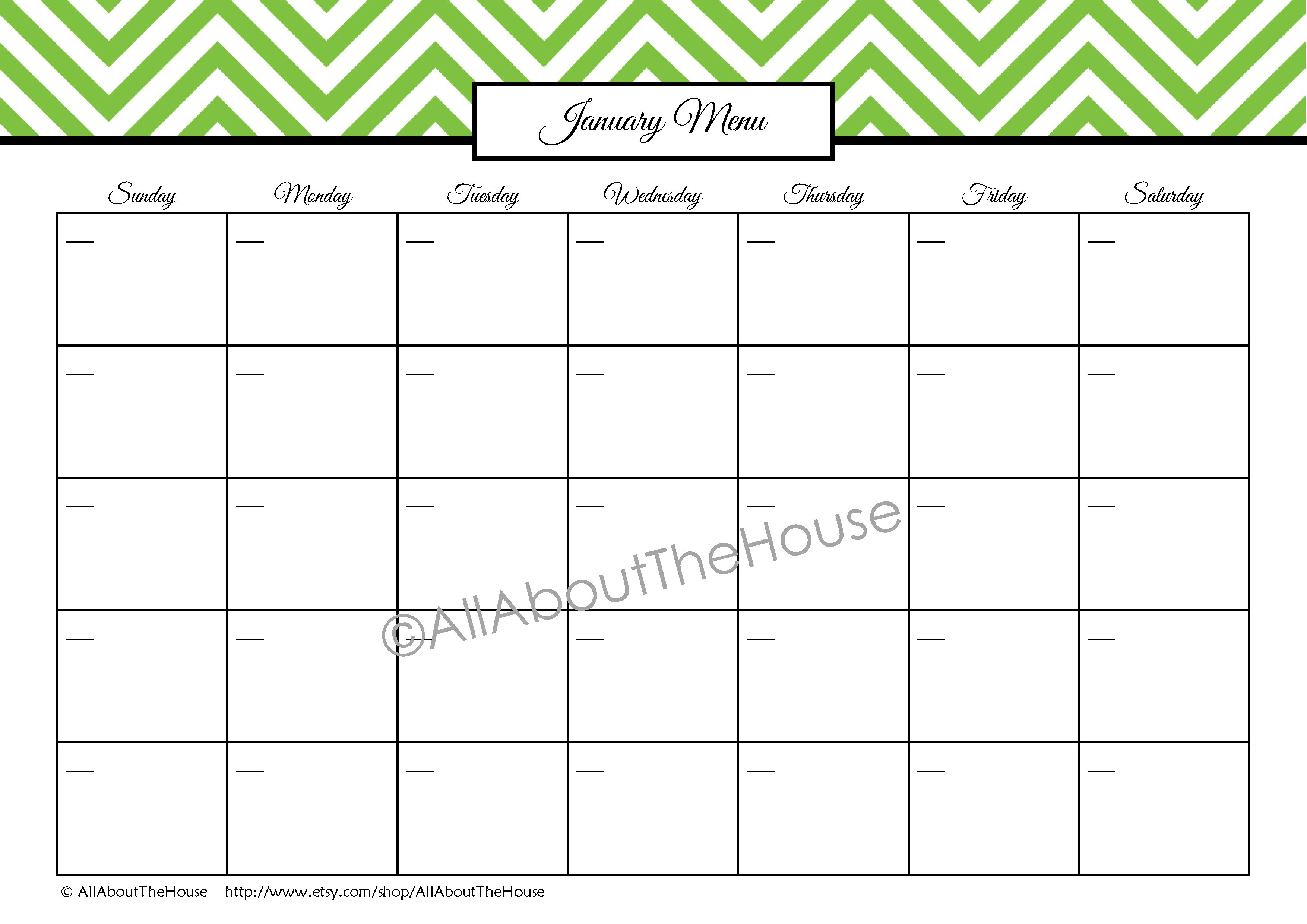 Free Monthly Meal Planning Worksheet