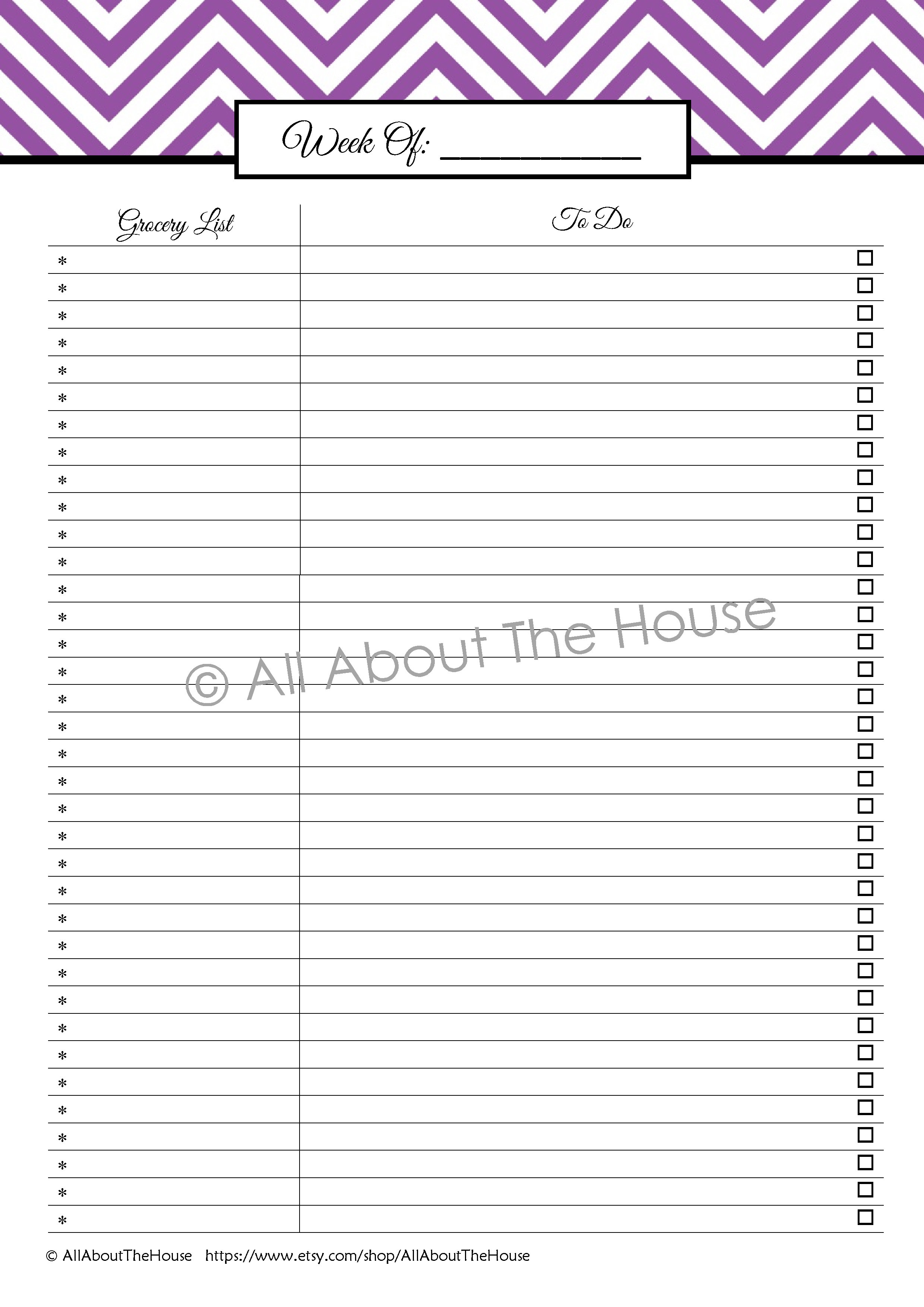 Monthly To Do List
