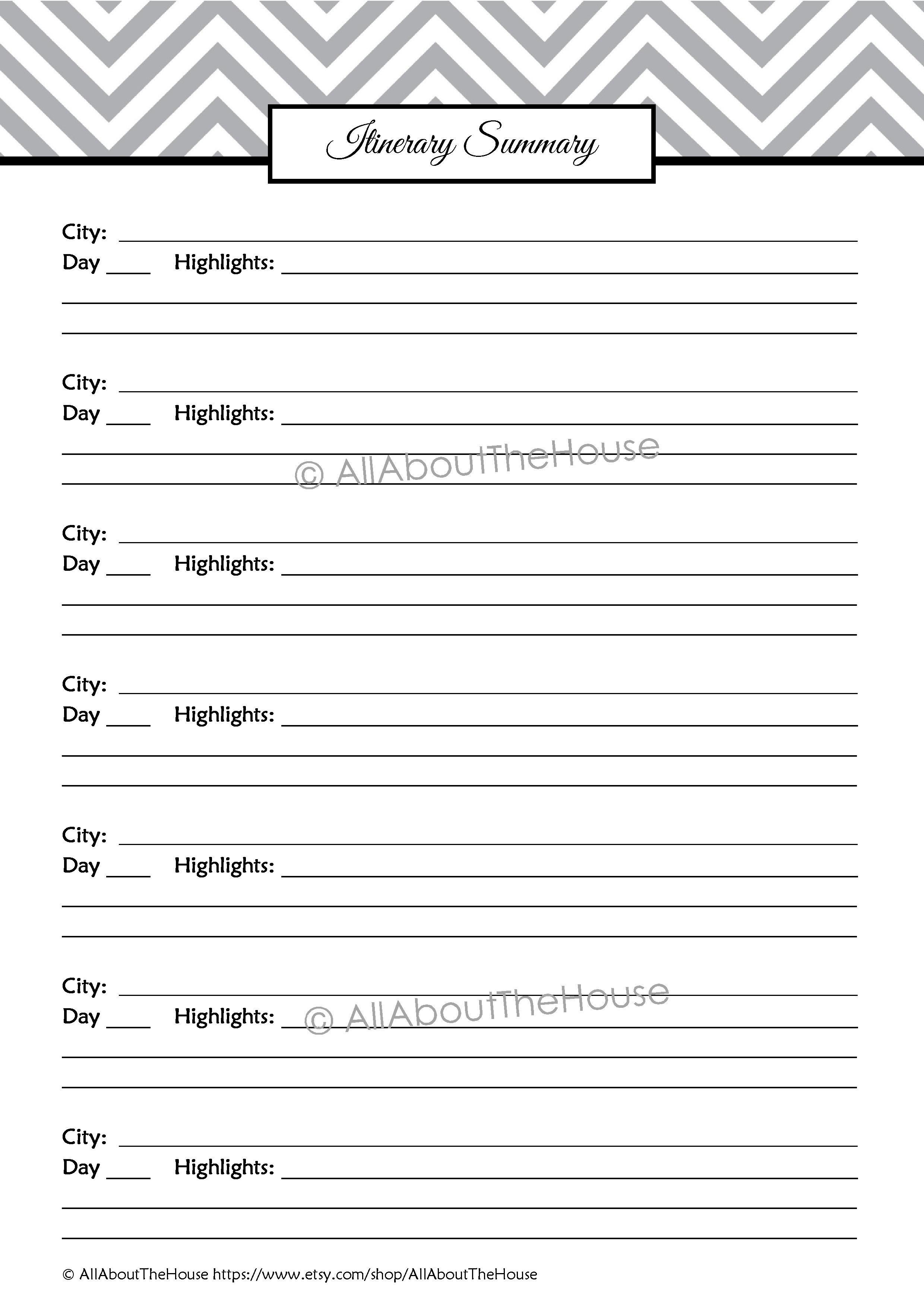 Travel Planning Kit Editable