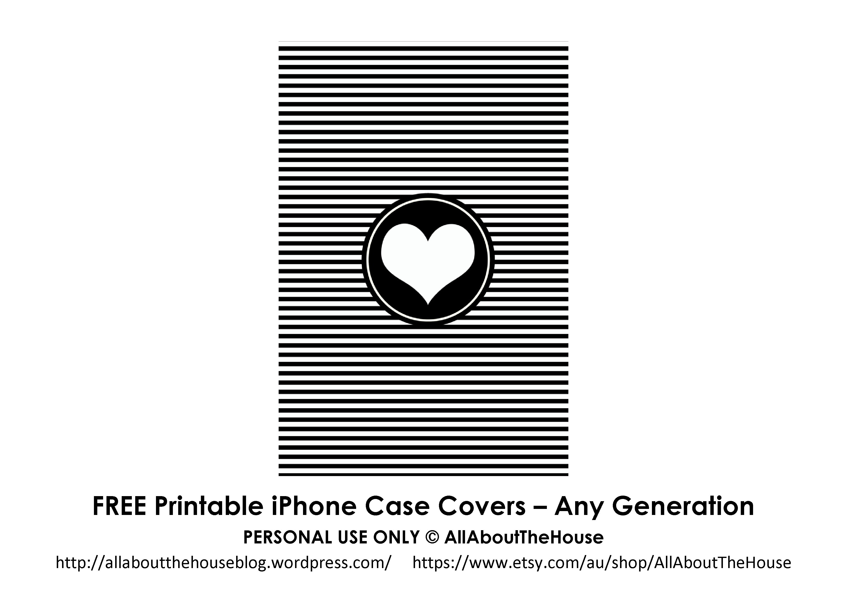 Printable iPhone case - AllAboutTheHouse