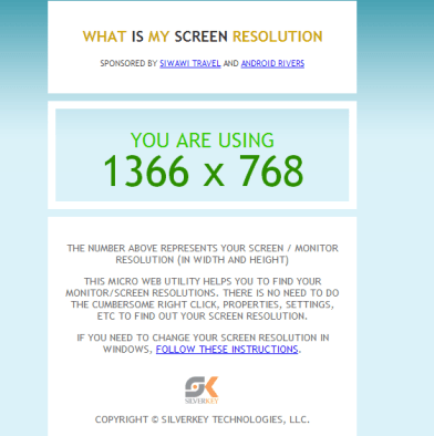 what size is my screen?