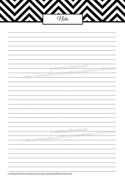 Note Paper - Black