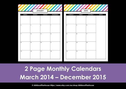 Printable day planner monthly calendar