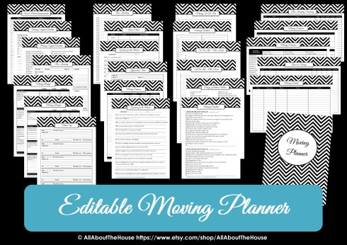 Moving Planner Printable Checklist Countdown