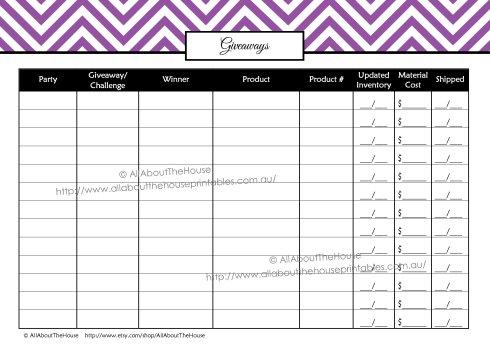 Giveaways printable direct sales planner editable instant download chevron organizer binder