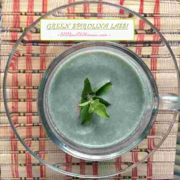 GREEN SPIRULINA LASSI Parry's Organic Spirulina
