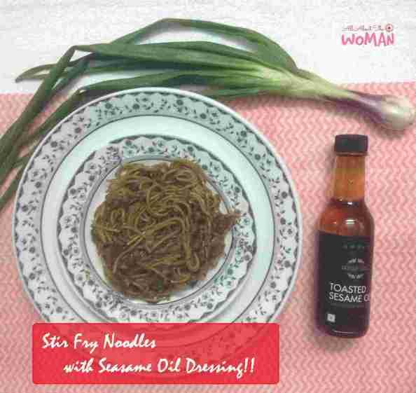 Stir-fry Noodles with Sesame Oil Dressing Recipe