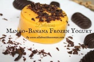 Mango Banana Frozen Yoghurt Recipe