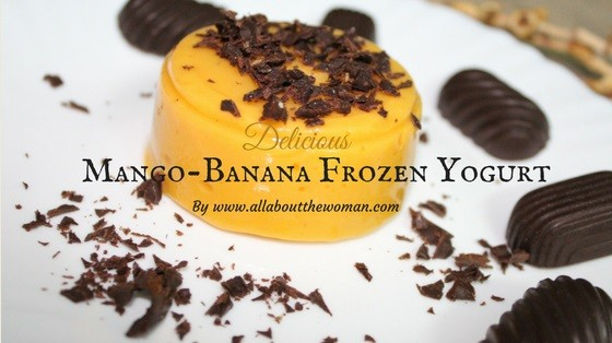 Mango Banana Frozen Yoghurt Recipe