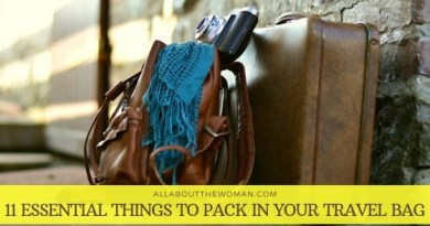 11 essential things to pack in your travel bag