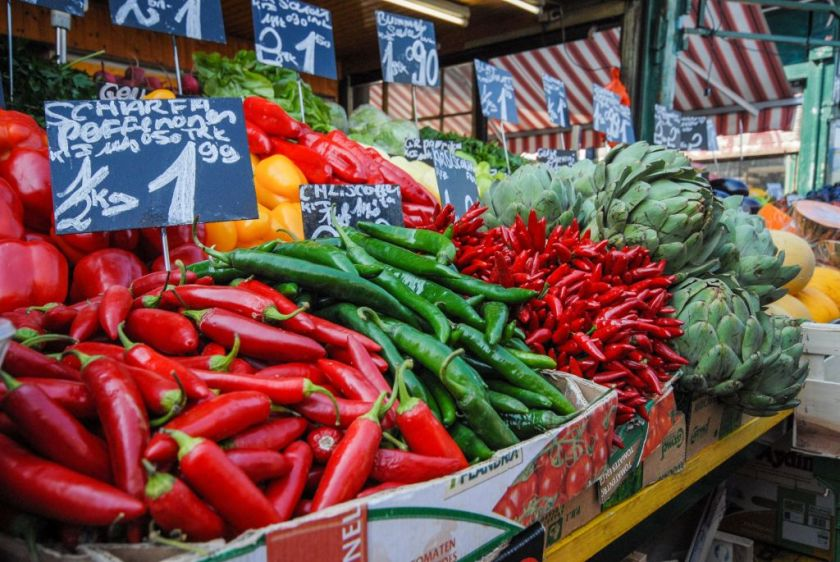 Naschmarkt fresh produce stall